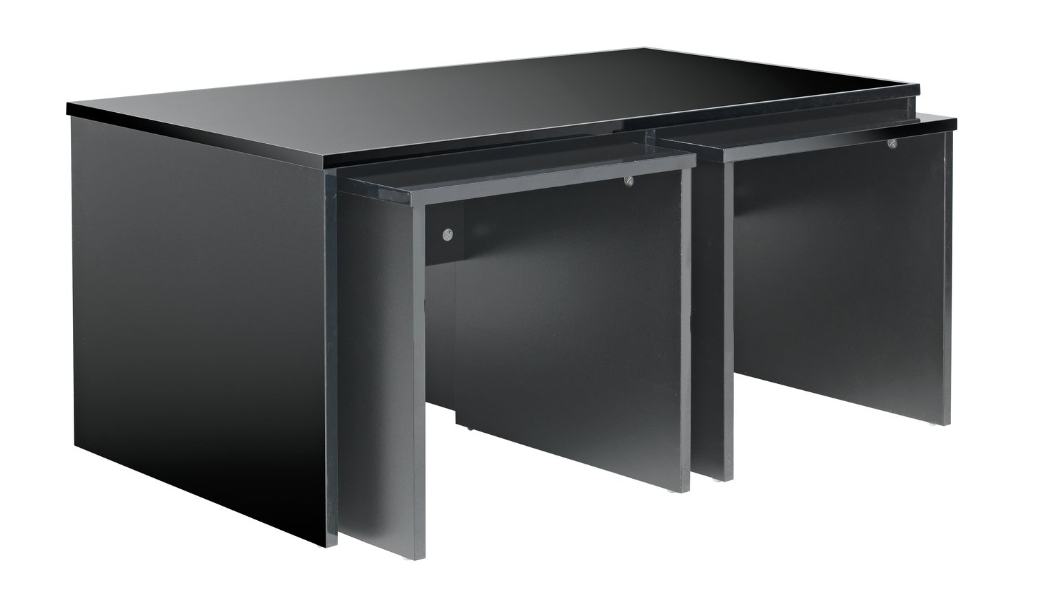 Hygena Hayward Large Table and Two Small Tables - Black at Argos from Hygena