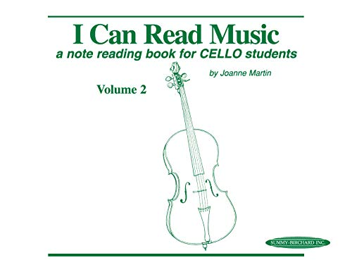 I Can Read Music, Vol 2: A note reading book for CELLO students from Alfred Music