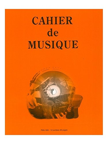 ID MUSIC CAHIER 12 PORTEES Music library, musicpaper, dvd.. manuscript book from International Music Diffusion