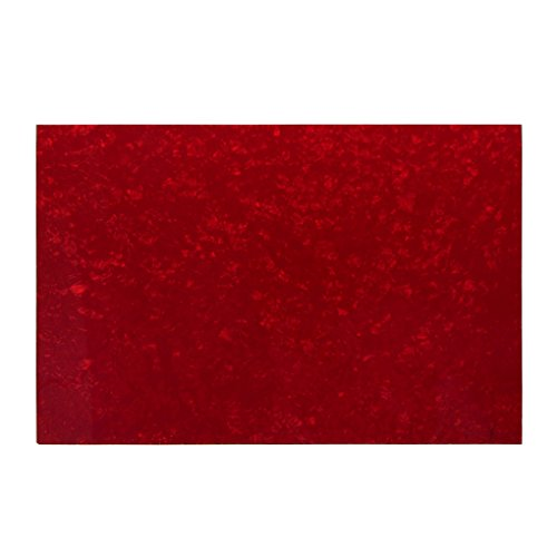 IKN 3Ply Guitar Bass Pickguard Red Pearl Blank Material Blank Scratch Plate 435x290mm from IKN