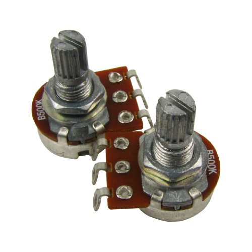 IKN B500K Electric Guitar Bass Tone Volume Control Pots Mini Potentiometer L15mm Shaft with Bayonet,Pack of 2pcs from IKN