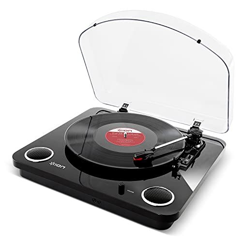 ION Audio Max LP | Belt-Drive Turntable with Built-In Stereo Speakers and USB Conversion - Piano Black from ion audio