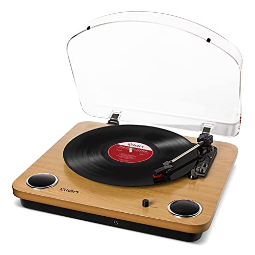 ION Audio Max LP | Belt-Drive Turntable with Built-In Stereo Speakers and USB Conversion - Wood from ION AUDIO