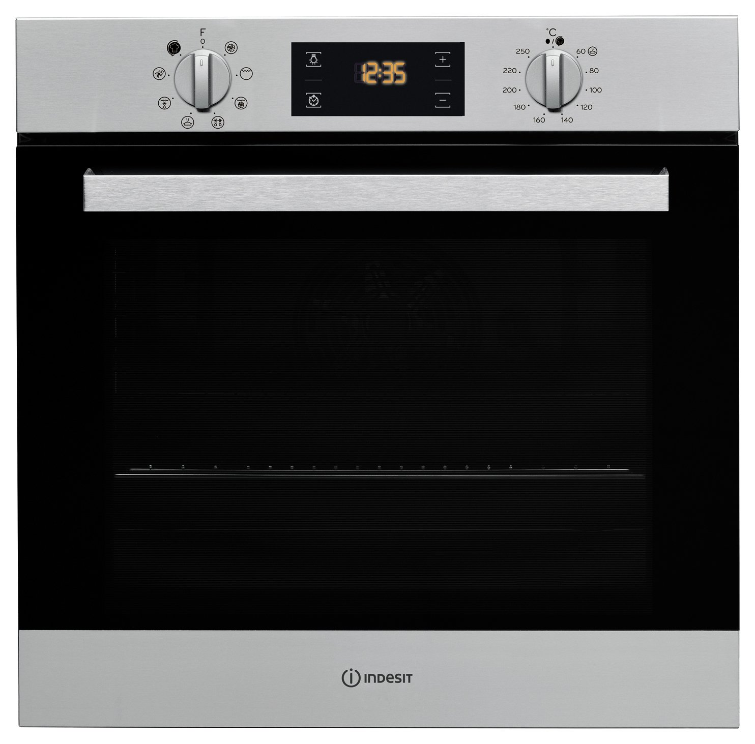 Indesit Aria IFW6340IX Built-in Electric Oven - Steel + Installation from Indesit