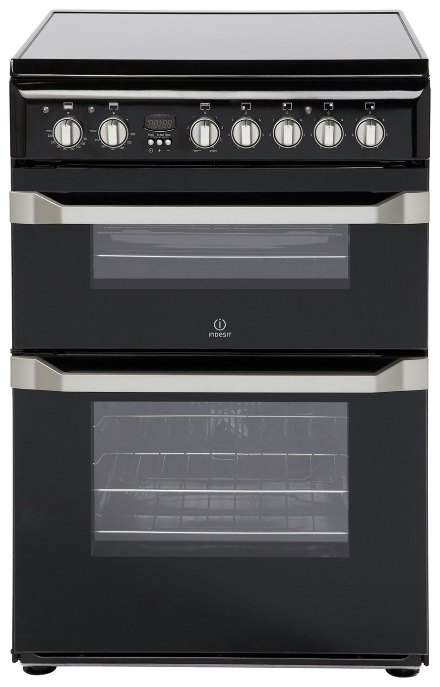 Indesit ID60C2 60cm Twin Cavity Electric Cooker - Black from Indesit