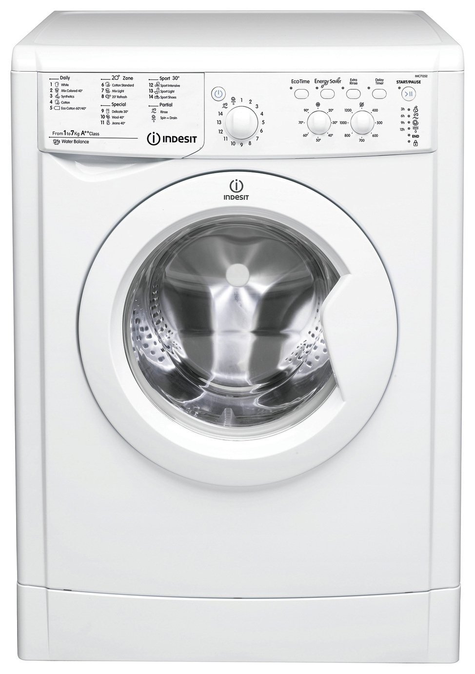 Indesit IWDC6125 6KG / 5KG 1200 Spin Washer Dryer - White from Indesit