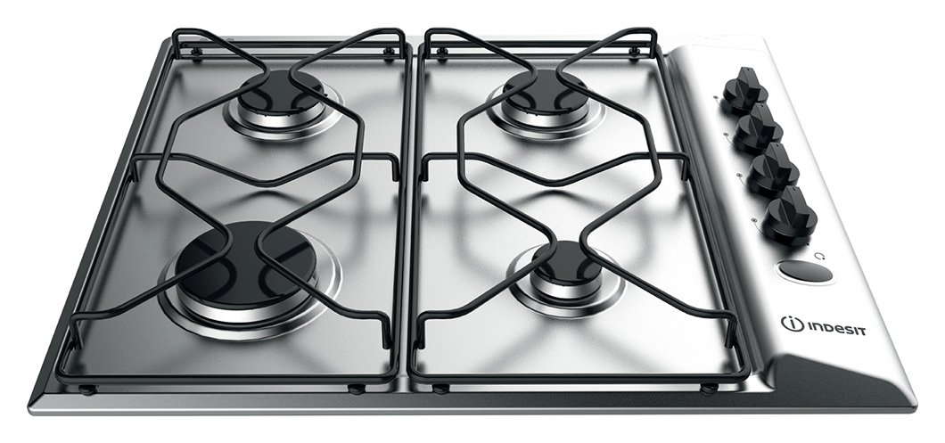 Indesit PAA 642 IX/I WE Gas Hob - Stainless Steel from indesit