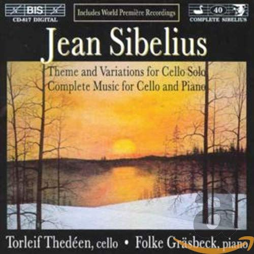 Jean Sibelius - Theme and Variations for Cello & Complete Music for Cello and Piano from BIS