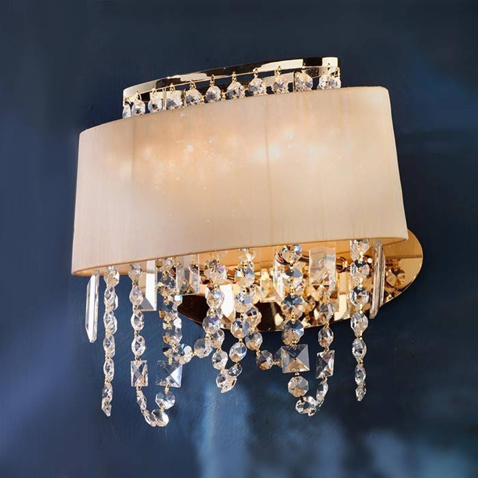 Jevana Wall Light Exclusive with Crystal Hangings from Orion