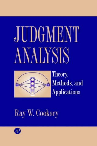 Judgment Analysis: Theory, Methods, and Applications (0) from Academic Press