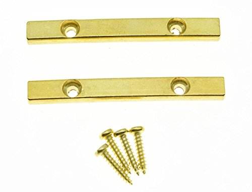 KAISH 2pcs Gold 44.5mm Guitar String Retainer Bar for Floyd Rose Guitar from KAISH