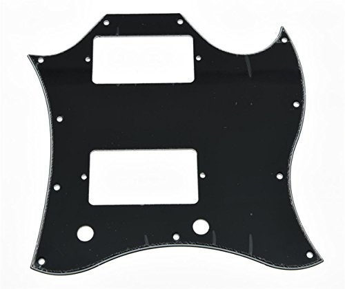 KAISH Black 3 Ply Standard SG Full Face Guitar Pickguard for USA SG Special Guitar from KAISH
