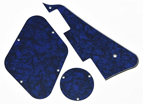 KAISH Blue Pearl LP Pickguard & Rear Plate Switch Plate Cavity Covers for Gibson Les Paul from KAISH