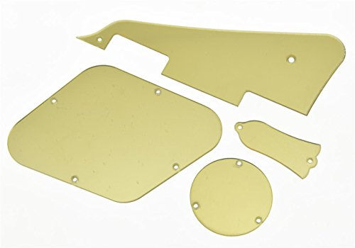 KAISH Gold Mirror LP Pickguard Rear Cavity Covers Truss Rod Cover Set for Gibson Les Pauls from KAISH