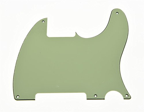 KAISH Mint Green 3 Ply 5 Hole Tele Blank Pickguard Scratch Plate No Pickup Hole for Fender Esquire from KAISH