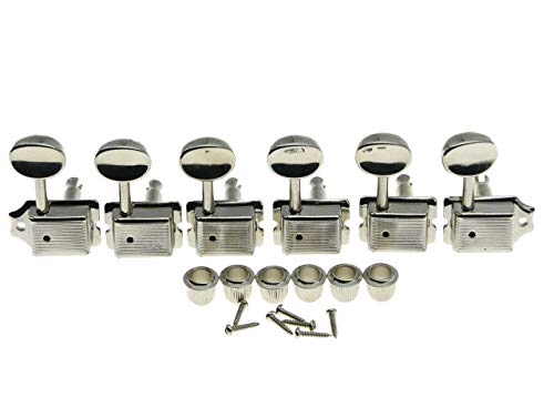 KAISH Nickel Split Post Vintage Guitar Tuning Keys Tuners Machine Heads for Strat/Tele Korea Made from KAISH
