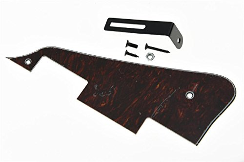 KAISH Red Black Tortoise LP Guitar Pickguard with Black Bracket for Epiphone Les Paul from KAISH