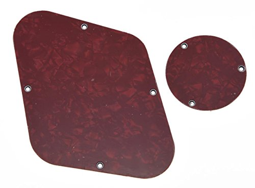 KAISH Red Pearl LP Rear Control Plate Switch Plate Cavity Cover For Epiphone Les Paul from KAISH