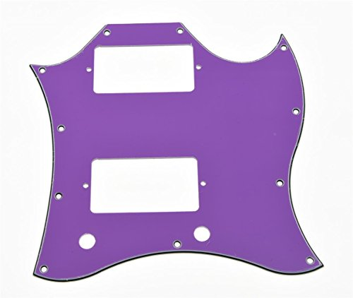 KAISH Standard SG Full Face Pickguard Purple 3 Ply for SG SPECIAL Guitar from KAISH
