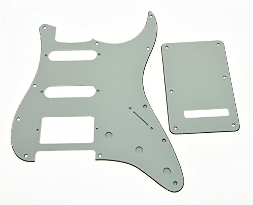 KAISH Strat HSS Pickguard and ST Back plate Tremolo Cover Ivory 3 Ply from KAISH