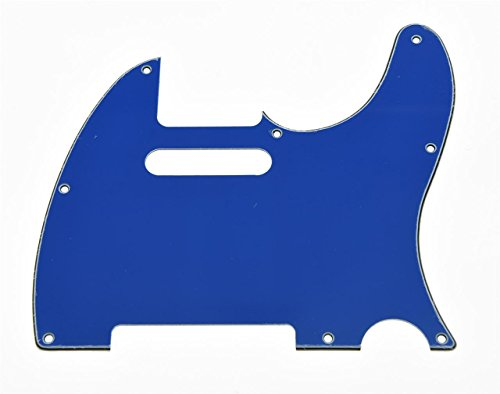 KAISH Tele Scratch Plate Guitar Pickguard Blue 3 Ply for US/Mexican Telecaster from KAISH