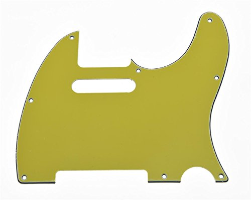 KAISH Tele Scratch Plate Guitar Pickguard Yellow 3 Ply for US/Mexican Telecaster from KAISH