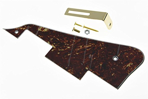 KAISH Vintage Tortoise LP Guitar Pickguard with Gold Bracket for Epiphone Les Paul from KAISH