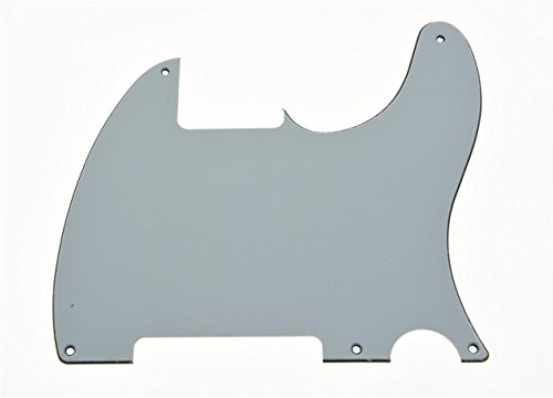 KAISH White 3 Ply 5 Hole Tele Blank Pickguard Scratch Plate No Pickup Hole for Fender Esquire from KAISH