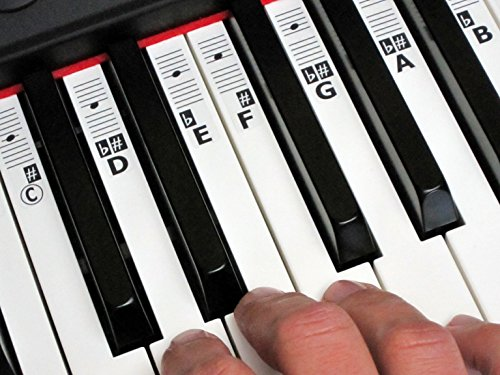 KEYNOTES Piano and Music Keyboard Key Note Stickers with Online Learning Aids from Keynotes