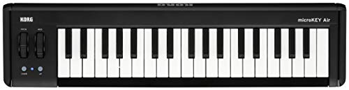 KORG MICROKEY2-37AIR Bluetooth Wireless and USB MIDI Controller - 37 Key - Black from Korg