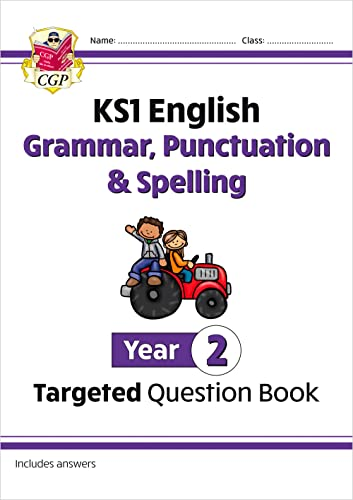 KS1 English Targeted Question Book: Grammar, Punctuation & Spelling - Year 2 (CGP KS1 English) from Coordination Group Publications Ltd (CGP)
