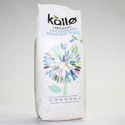 Kallo | Puffed Rice Cereal - Natural | 5 x 225g (UK) from Kallo