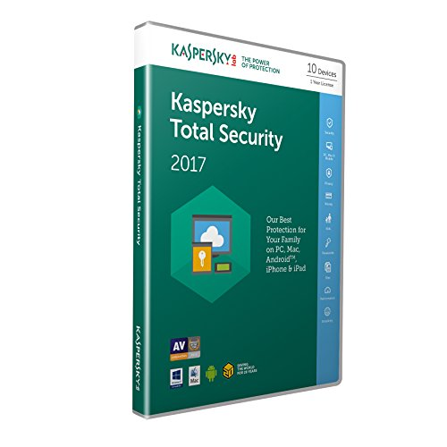 Kaspersky Total Security 2017 | 10 Devices | 1 Year | PC/Mac/Android | Download from Kaspersky Lab