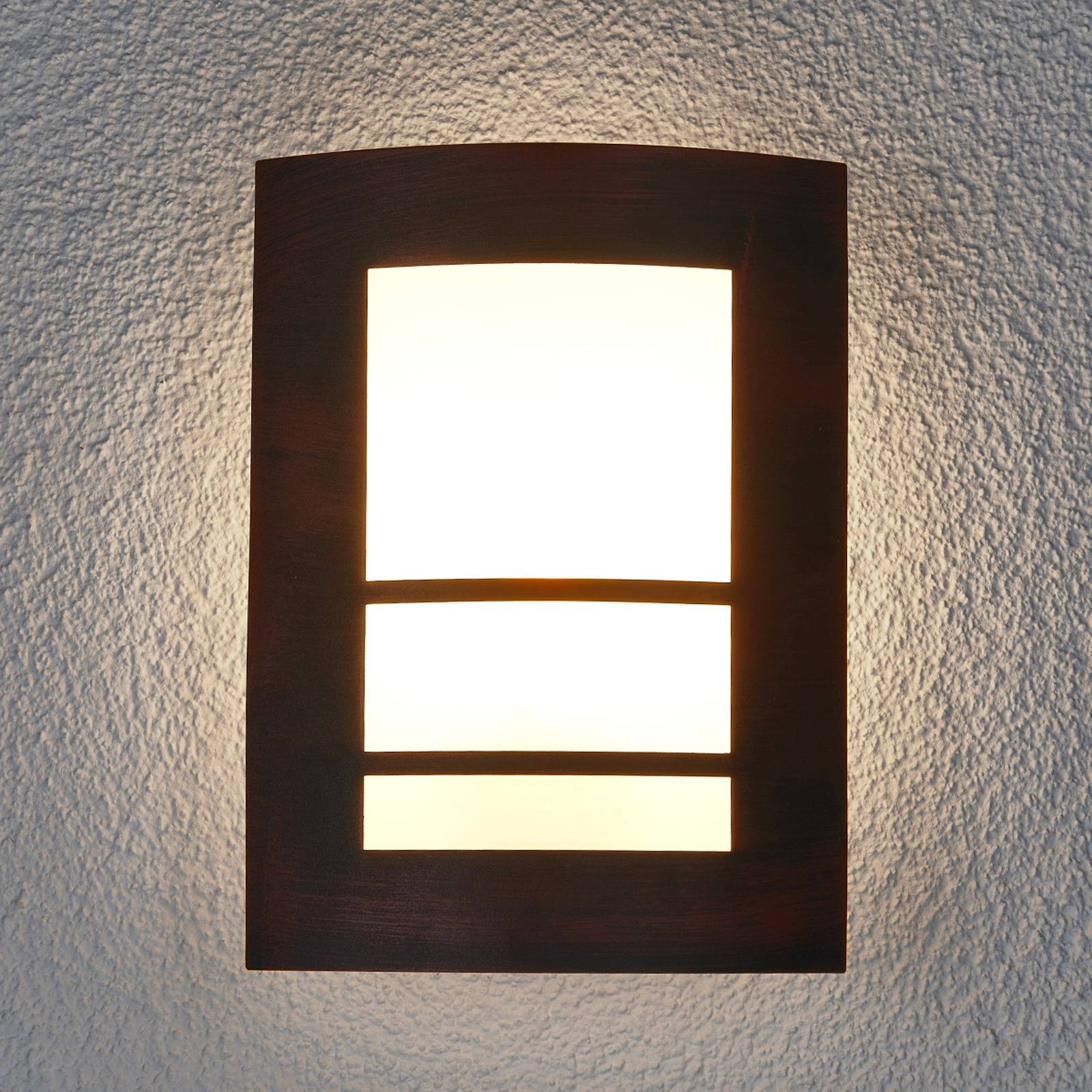 Katalea Outside Wall Light Rust Brown from Lindby