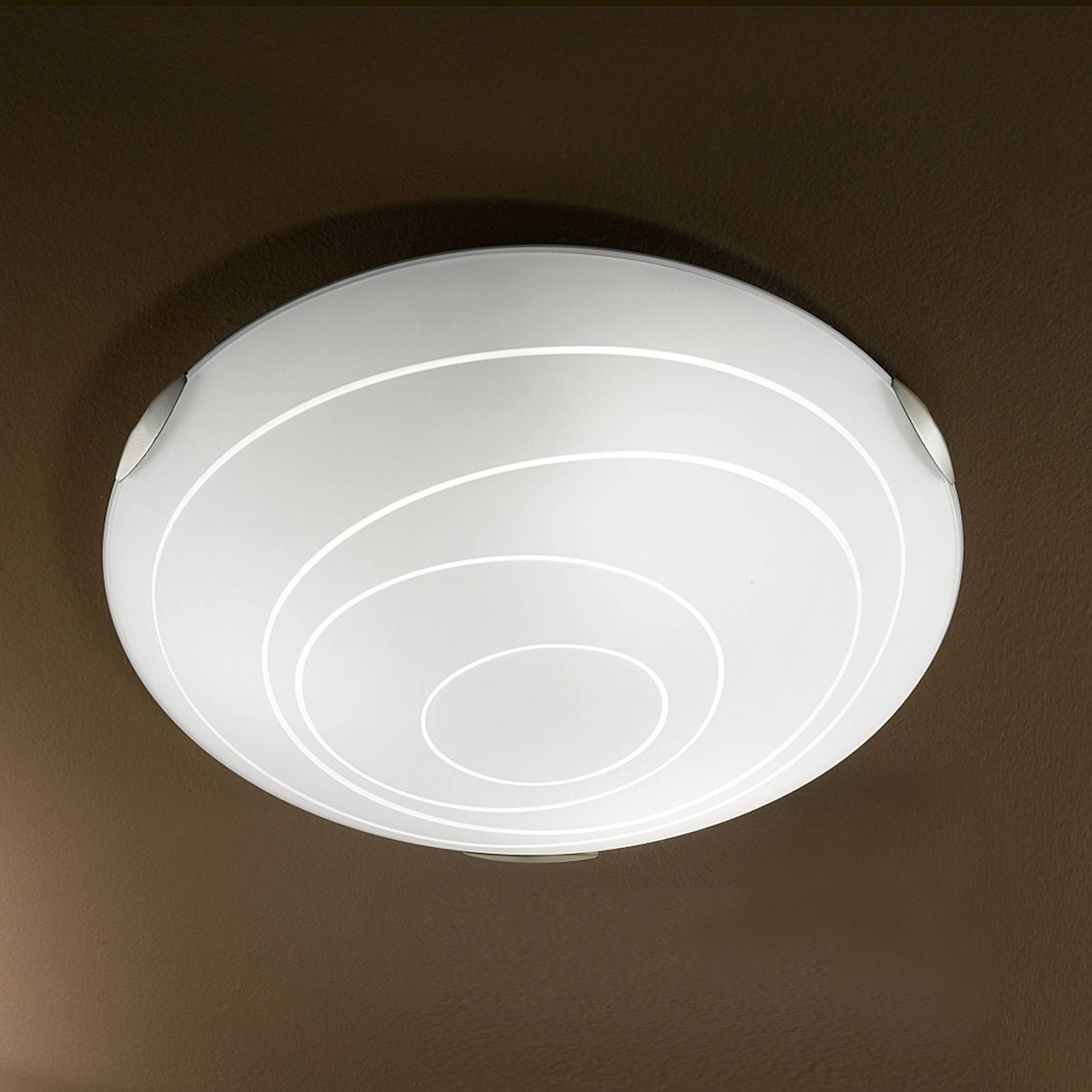 Kent Ceiling Light Round White from Fabas Luce