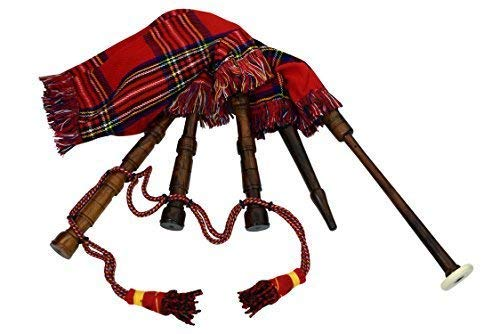 Kids Toy Bagpipe/Junior Playable Bagpipes/Child Bagpipe Full Royal Stewart with Royal Stewart Cord from HOH