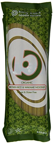 King Soba - Organic Brown Rice & Wakame Noodles - 250g by King Soba from King Soba