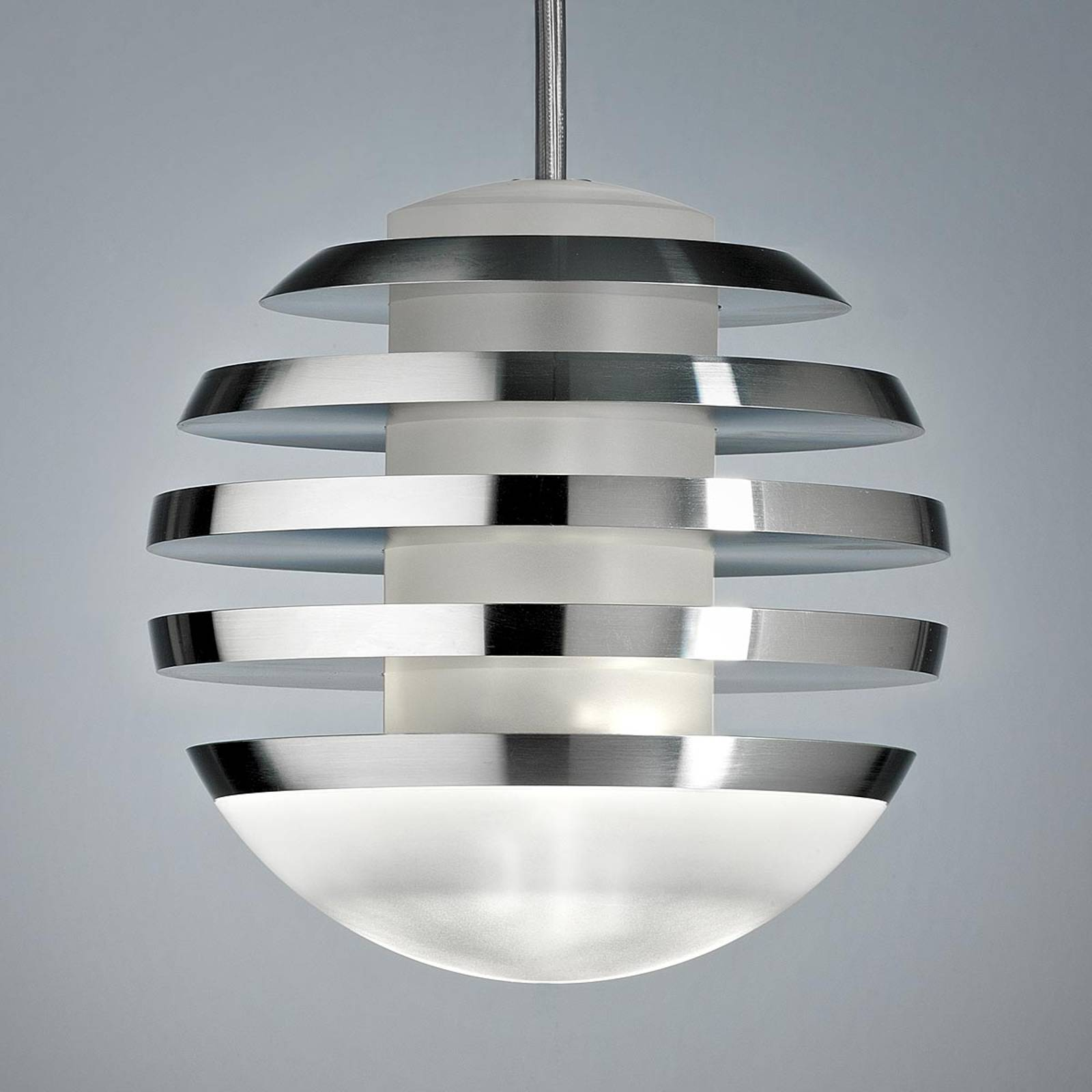 LED hanging light BULO, aluminium from TECNOLUMEN
