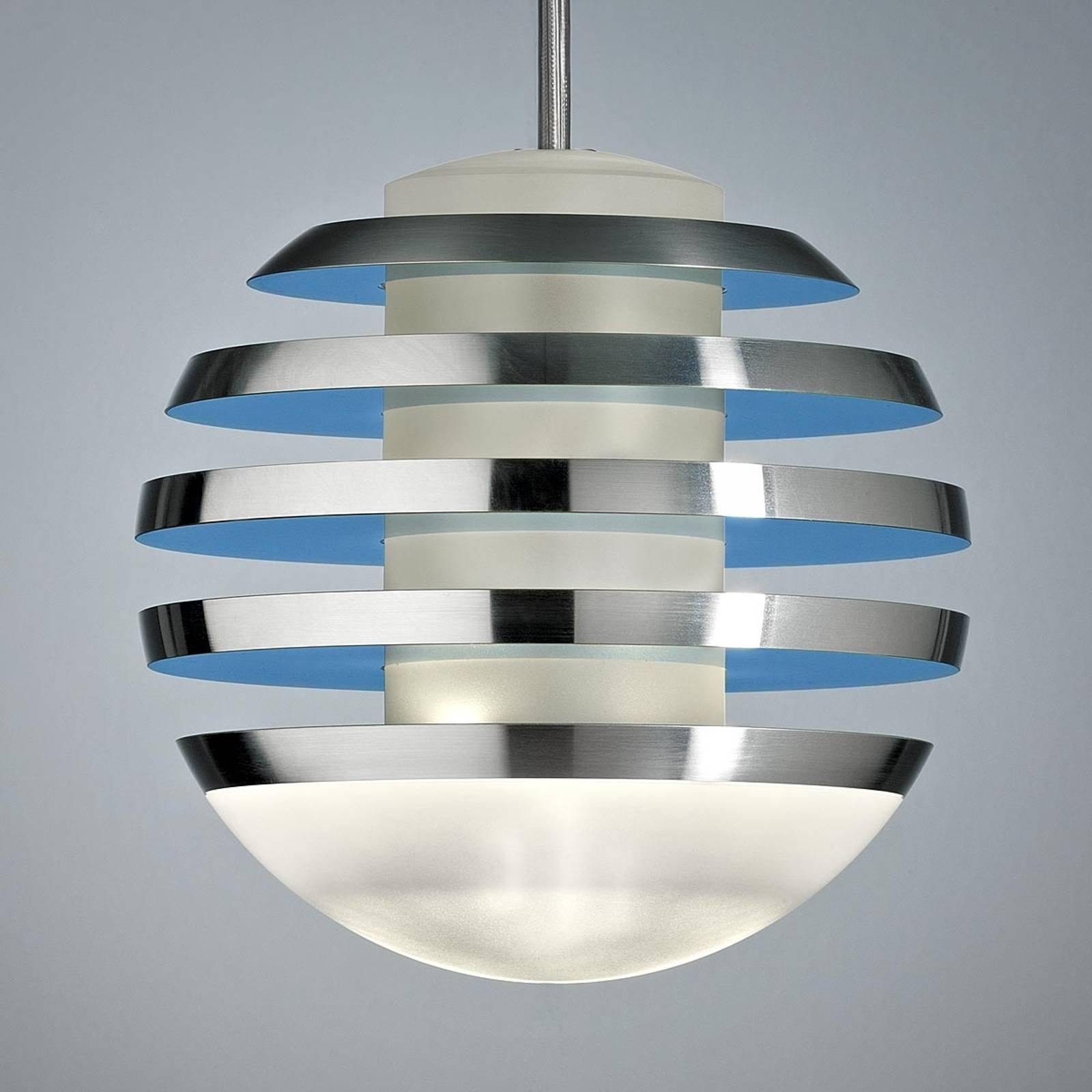 LED hanging light BULO, light blue from TECNOLUMEN