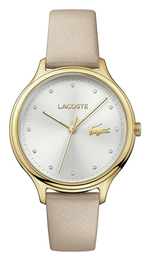 Lacoste Ladies' Constance 2001007 Beige Leather Strap Watch from Lacoste