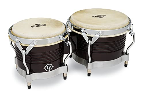 Latin Percussion LP811000 Matador Wood Bongos - Dark Brown/Chrome from Latin Percussion