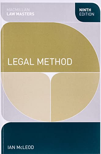 Legal Method (Macmillan Law Masters) from Palgrave