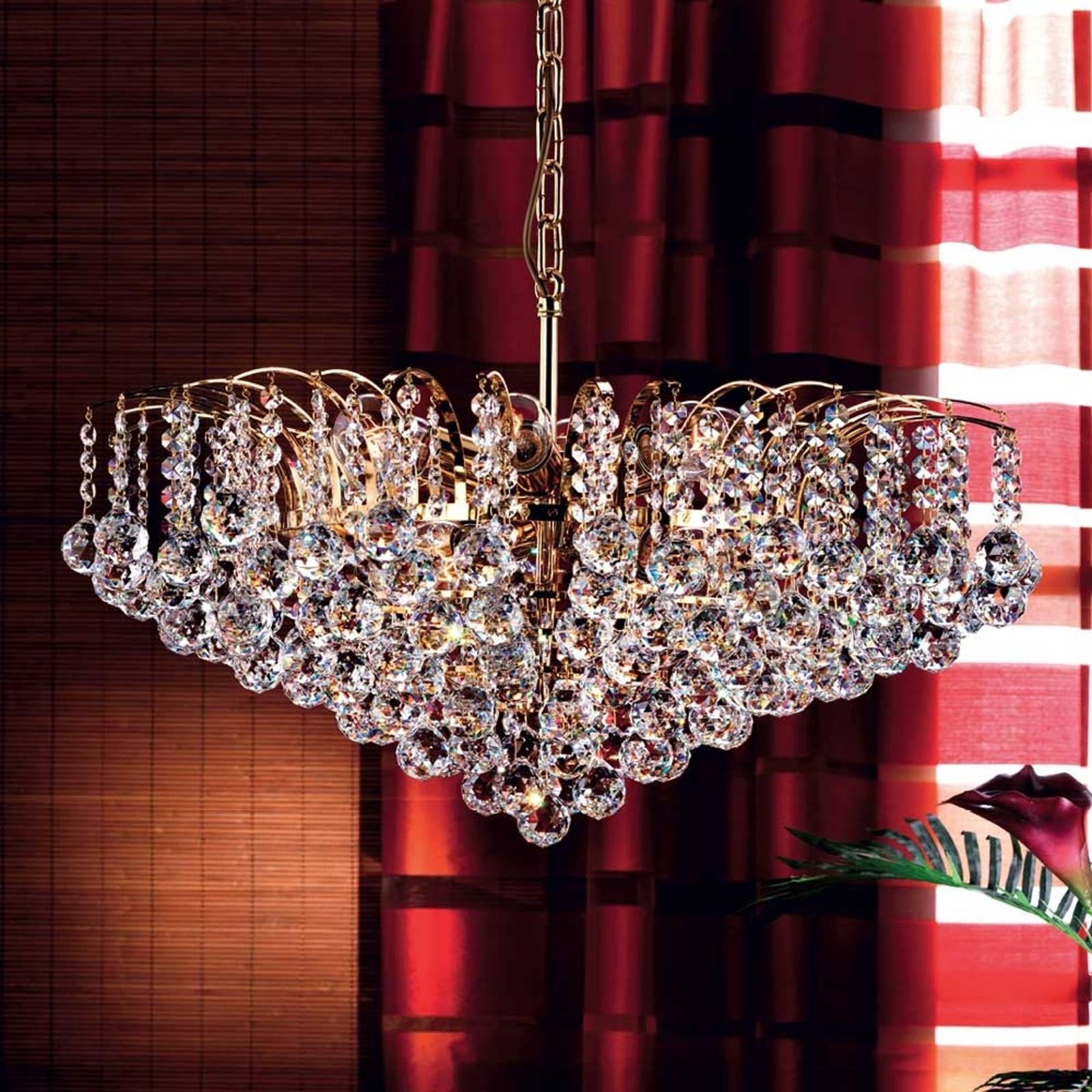 Lennarda Crystal Hanging Light Luxurious from Orion