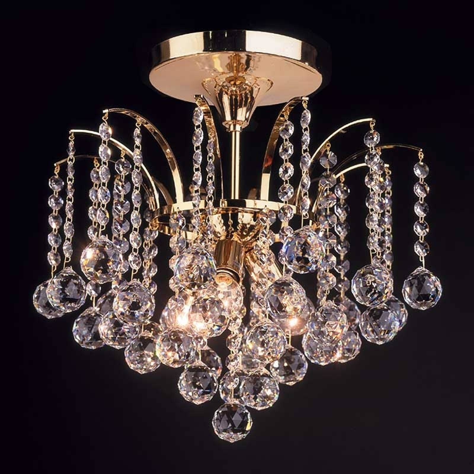 Lennarda ceiling light, crystal / gold 42 cm from Orion
