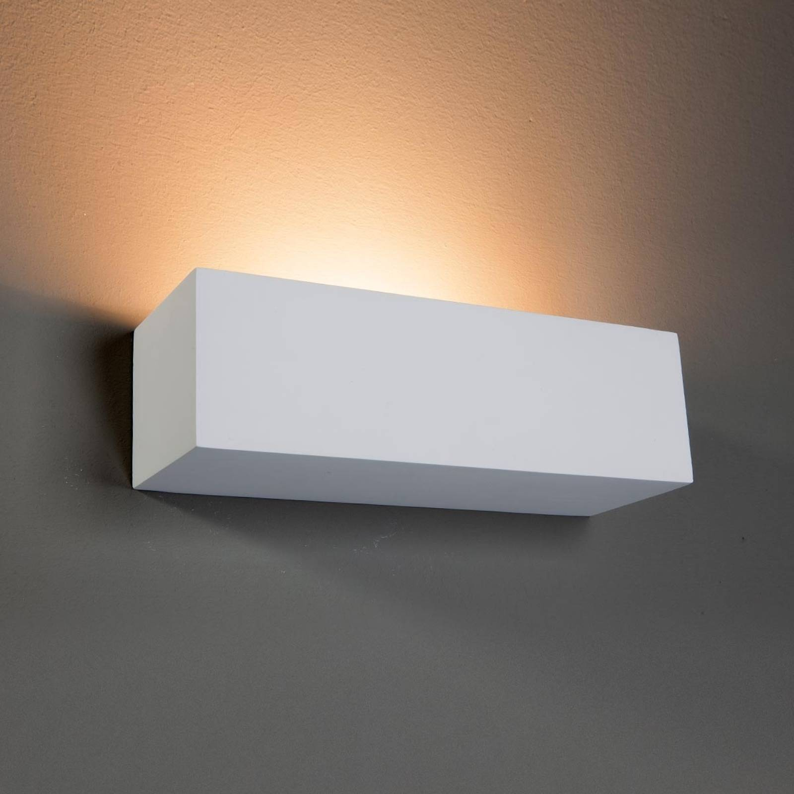 Lenny Wall Light Rectangle Plaster from Lindby