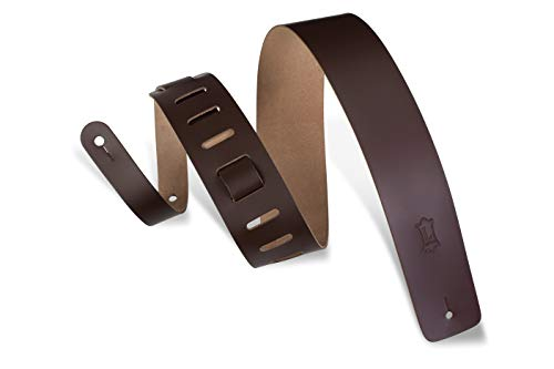 Levy's M1‐DBR 2.5-inch Leather Strap ‐ Dark Brown from Levy's Leathers