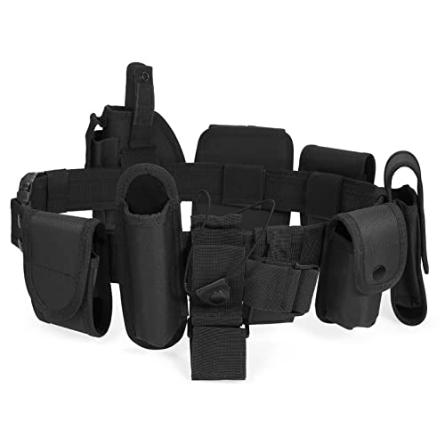 Lixada Tactical Police Security Guard Equipment Duty Utility Kit Belt with Pouches System Holster Outdoor Training Black from Lixada