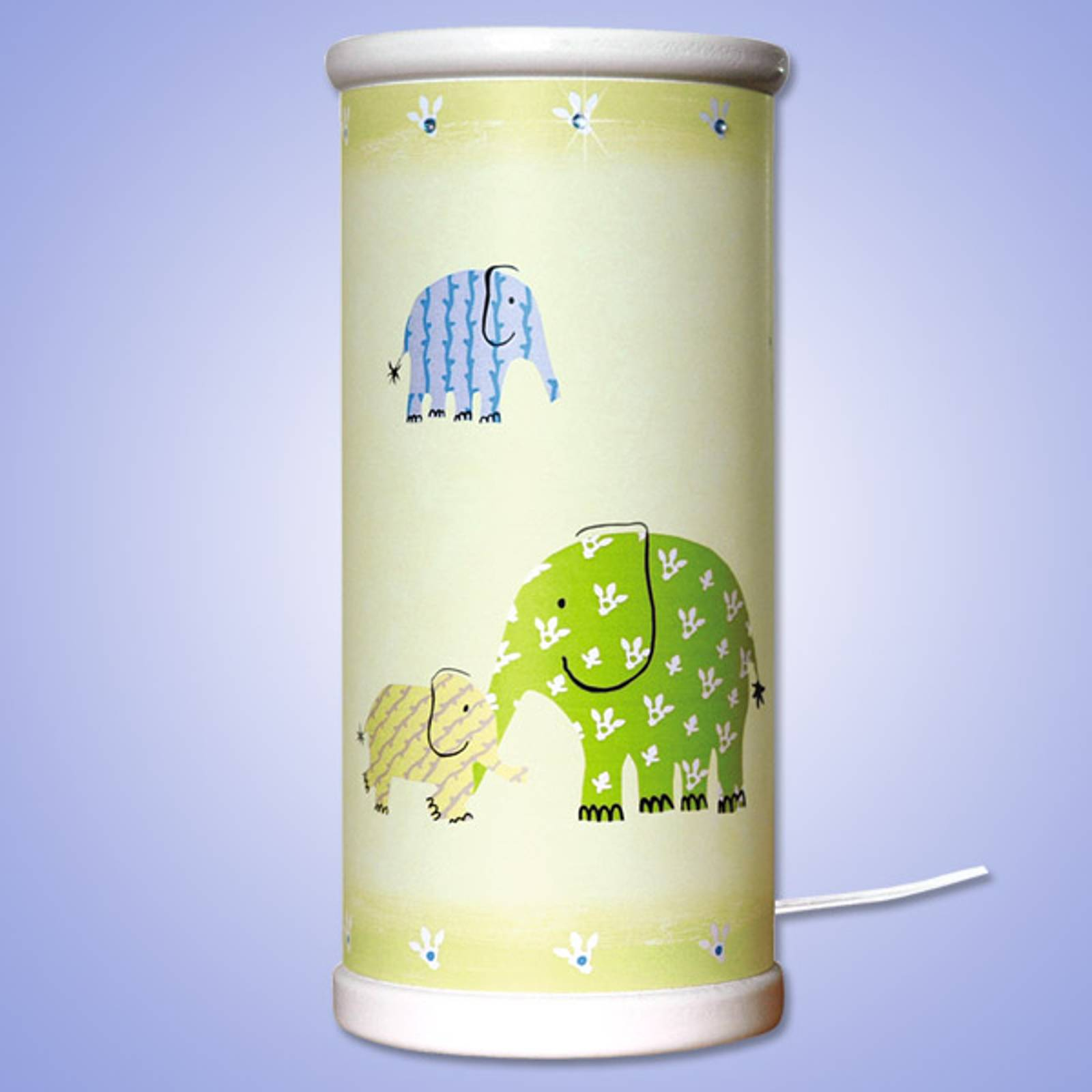 Magical green Elephant LED table lamp from Waldi-Leuchten