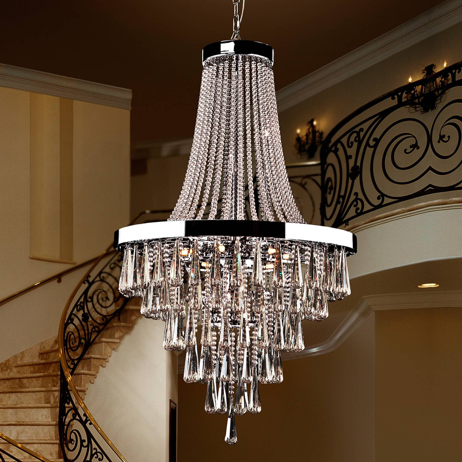 Magnificent crystal chandelier Palace from Schuller