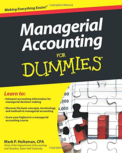 Managerial Accounting For Dummies from For Dummies